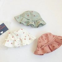 Printed Bow Sunhat Fisherman Cap Kids Beach Casual Hat Summer Outdoor Travel Soft Caps Lovely Sweet Wide Brim Foldable Adjustable Bucket Hats For Girls