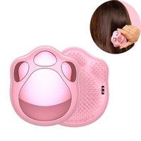 Hair Brushes 1pcs Pink Mini Comb Portable Pocket Anti-static Detangled Brush Cute Girls Women Straightener Combs
