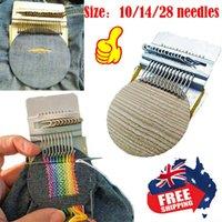 Sewing Notions & Tools 10 14 28 Needles Small Loom Speedweve Type DIY Denim Hole Repair Weave Tool Braiding Patching Kit Household Accessori