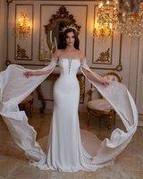 Elegant Mermaid Wedding Dresses With Long Sleeves Luxury Beads Sequins Bridal Gowns Sweep Train Custom Made Plus Size Vestido De Novia