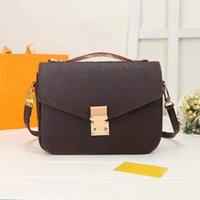 2021 Classic Pochette Metis Messenger Bag Designers Sacos de Ombro Bolsas Mulheres Luxurys Leather Lady Crossbody Tote Carteira