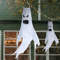 Party Decoration Halloween Specter Hanging Ornament Led Lights Outdoor Tree Props Ghost Festival Decor