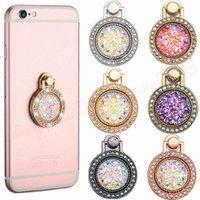 Suporte de anel de dedo de metal de bling de diamante 360 graus suporte de suporte de telefone celular para iphone 7 8 x xr xs samsung