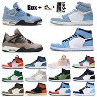 Nike Air Jordan Nova Jumpman 1 Men sapatas de basquetebol das 1s Cinzento fumo alta OG Bio Corte Bloodline cetim-Snake Chicago Trainers Sneakers Com Box