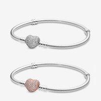 Bracelets de pandora pour femmes bijoux 2021 bracelet de charme argent sterling 925 original designer coeur bracelets