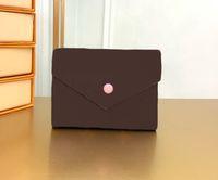 Famoso saco de designer de mulheres titular de cartão curto hasp carteiras de couro genuíno com sacos de poeira caixa 41938 bolsas cx # 125
