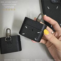 Luxury Popular fashion trend Black case For AirPods 1 2 Pro 3 Box PU Leather brand Wireless Bluetooth Headphones Protection cover