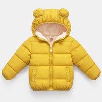 طفل أطفال جاكيتات الفهد الشتاء الفتيان مقنع جاكيتات الدافئة سميكة معاطف للفتيات الصوفية قميص 1-6 سنوات الأطفال ملابس الشتاء H0909