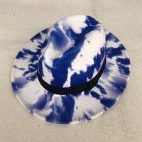 حافة واسعة القبعات ماركة zjbechhmu الشتاء الخريف تقليد الصوف النساء الرجال السيدات فيدوراس الأعلى الجاز قبعة الأوروبية الأمريكية جولة قبعات الرامي