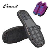 SOUMIT DIY Hand Strickmaterialien Hausschuhe Gummi-Außensohlen für Schuhe Anti-Rutsch Häkeln Nadeln Indoor-Hausschuhe Sohle 210402