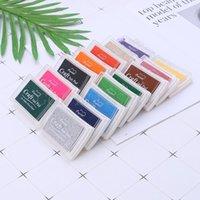 공예 도구 다채로운 오일 잉크 패드 고무 스탬프 파트너 DIY 스크랩북 무지개 장식 드롭
