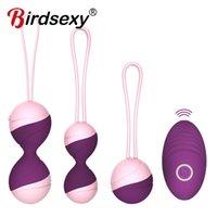 Sex Egg bullets Kegel Balls Vibrating Eggs Toys For Women Wireless Remote control Vaginal rotation 10-speed Vbrator Adult 0928