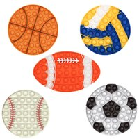 Sport stress fidget toy set pushes bubble fidget sensory Football Basketball Baseball Rugby Push Toys
