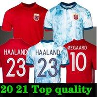 20 21 النرويج لكرة القدم الفانيلة Noruega Haaland Ödegaard Berge King Camisetas De Fútbol National Team Football Home Thailand