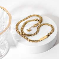 Chains Fashion Stainless Steel Chain Choker Gold Necklace For Women Men Iced Out Cuban Link Hip Hop Ketting Jewelry