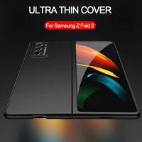 Lüks Ultra Ince Kılıf Samsung Galaxy Z Katlama 2 5g Durumda Mat Sert Plastik Ince Telefon Kılıfı Tam Koruyucu Arka Kapak