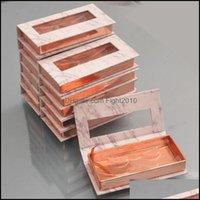 Gift Event Festive Party Supplies Home & Gardengift Wrap Wholesale Eyelash Packaging Box Lash Boxes Custom 25Mm Mink Eyelashes Package Marbl