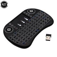 Tastiere 3 Colore retroilluminato I8 Mini tastiera wireless 2.4 GHz Mouse inglese Italiano con touchpad per laptop TV Android Box Utilizzare batteria