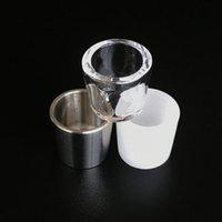 피크 삽입 티타늄 석영 그릇 흡연 액세서리 평면 탑 미니 유리 Dabber 장비