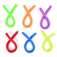 Fidget Toys Pop Decompression Toy Monkey Noodles It Rope Stretched Soft Figet Stress Relief TPR Noodle Stretch Children Kids Squishy Abreact Flexible Ropes