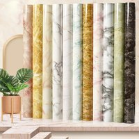Wall Stickers Marble Waterproof Self Adhesive Film Wallpaper For Bathroom Kitchen Cabinet Countertops Contact Pvc