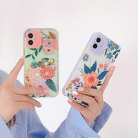Estuches para teléfono de flores para iPhone 12 11 Pro Max XS XR 7 8 Plus Linda Linda Floral Back Cubierta protectora Muy personalizado Logotipo