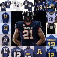 2021 Navy Midshipmen Football Jersey NCAA College Jacob Springer Roger Staubach Keenan Reynolds Malcolm Perry Nelson Smith CJ Williams Maloy