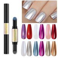 مسمار القلم مزدوج العضوية أنيق الألوان ABS وسادة الهواء سحرية لتصميم الأظافر الملحقات بريق