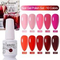 Nail Gel Clou Beaute 10pcs set Polish Selling Set Cosmetics Art Vernis Semi Permanent Organic UVLED Varnish