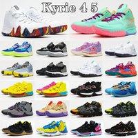 남자 Kyries IV 낮은 irvings kyrie 4 5 mens 농구 신발 HEEL 세계 4S 5S 화이트 블루 블랙 골드 그린 오렌지 스포츠 운동화 크기 US 7-12 J2WX #