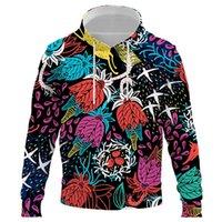 Men's Hoodies & Sweatshirts 2021 Fashion Flower Men Women 3D Printed Abstract Pattern Sweatshirt Causal Unisex Hip Hop Pullover Clothing