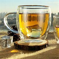 1 pcs résistant à la chaleur double mur double tasse de café de bière à la main à la main de la bière créative tasse de thé en verre de verre de verre de whisky boissons en gros 537 R2
