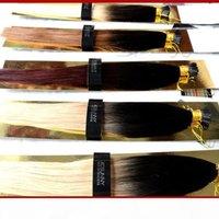 """STOCK 100% Remy Capelli indiani Ombre I Supporta estensioni per capelli 18 """"20"""" 1g s estensione cheratina Blonde Destensione dei capelli umani"""