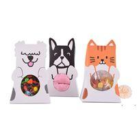 День рождения украшения детская бумага собака подарочные сумки конфеты сумки коробки детские душ упаковка сумка для домашних животных FWF7659