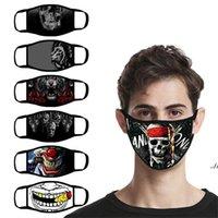 米国在庫ファッションデザイナーのフェイスマスクアダルトスカルタイガーイーグル動物プリントコットンマスクwmen女性用防塵ウォッシュフェイスマスク