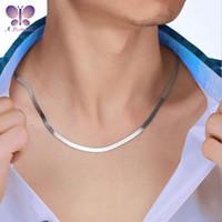Butterfly 100% 925 Sterling Silver Collana da uomo Blade Snake Bone Vary Lunghezza Opzioni Catene