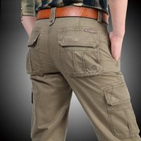 Icpans Cargo Çok Cepler Baggy Erkekler Askeri Rahat Pantolon Kış Sonbahar Ordusu Pantolon Joggers Psize 40 42 44