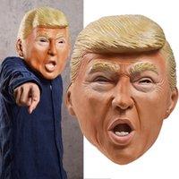 미국 대통령 트럼프 마스크 라텍스 헤드 기어 스푸핑 파티 소품은 할로윈을위한 새로운