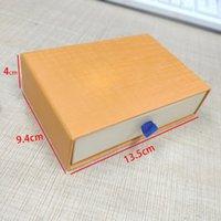 Orange Retail Cadeau Emballage Boîtiers Tiroirs Cordon Sacs Tissu Sacs Certificat Certificat Sac fourre-tout pour la boîte à bijoux