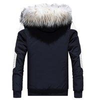 Deri Patchwork Sıcak erkek Kış Ceket Erkekler Parka Erkek Ceket Parkas Için Kürk Hoodies Giyim Adam Gençlik Giyim Mens 201120