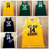 Taze Prens Jersey, # 14 Smith Basketbol Forması, Bel Hava Akademisi'nin Taze Prensi Sarı Yeşil Siyah Basketbol Formaları