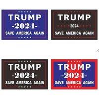 2024 ترامب ملصقات الانتخابات الرئاسية الأمريكية ذاتية اللصق خطابات الأزياء المطبوعة مصغرة ملصقا نافذة المنزل الوجه ثلاجة السيارة HWD9355