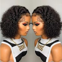 Lace Wigs CEXXY Pixie Cut Wig Short Curly Human Hair 13X1 Transparent For Women Pre Plucked