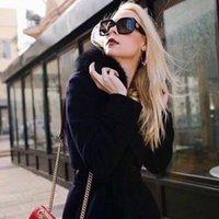 مصمم فاخر مصمم GC83 النساء النظارات الشمسية المستقطبة uv400 إيطاليا المستوردة لوح سكوير كبير fullririm occhiali دا الوحيد 55-22-140 حالة كاملة