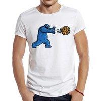 الرجال الأزياء كوكي دكين تصميم قصيرة الأكمام تي شيرت بارد مطبوعة قمم محب تي شيرت القمصان