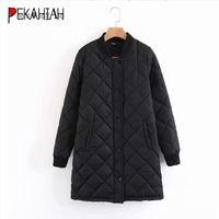 Women's Jackets Winter Long Coats And Women Coat Casual Black Bomber Jacket Wram Baseball Outwear 2021