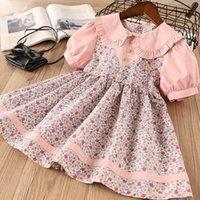 Girl's Dresses Baby Summer Dress 2-6 Tons Retail Flower Ball Sleeve Princess Party 2021