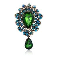 Fahmi 2019 Retro Drop Drop Dress Traje Broches Crystal Broche Corsage Mujer Joyería de moda Will y Sandy Gift Jewelry Woman