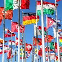 90 * 150CM العالم العلم العلم الوطني راية قوس قزح يمكن تخصيص مصنع بالجملة