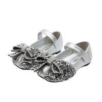 2021 New Girls Zapatos de cristal arcos de cristal zapatos de niños zapatos de bebé princesa vestido de baile zapato calzado de cuero para niños ropa B3838